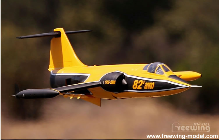 Freewing F-104 Starfighter Yellow 90mm EDF Jet PNP RC airplane