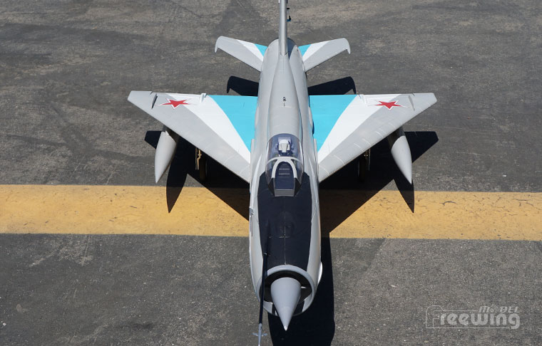 Freewing Mig-21 Blue 80mm EDF Jet PNP Rc Airplane
